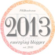 2013 Emerging Blogger Badge - PRBlonde
